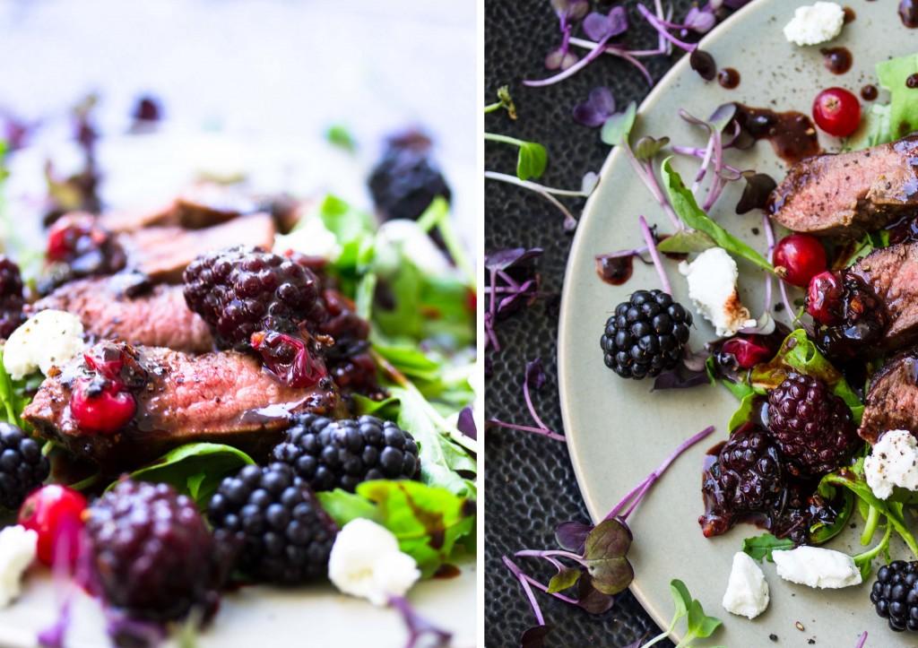 Venison Boysenberry Salad