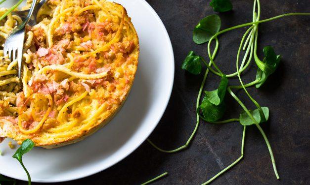 Soulfood gegen Grau – Macaroni and Cheese mit Ingwerkruste