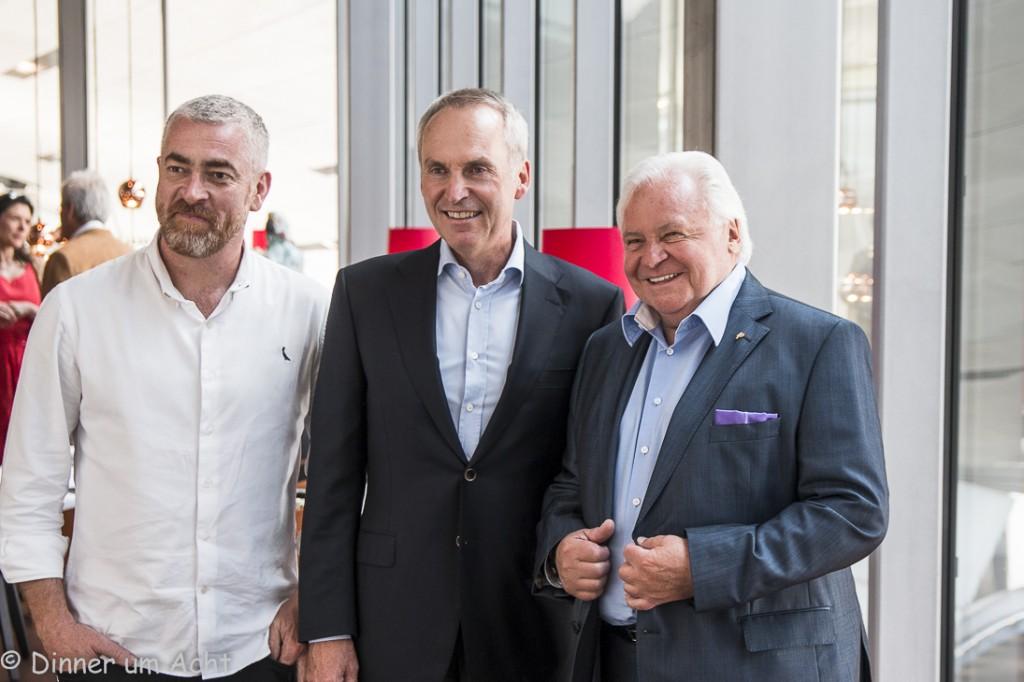 v.l. Alex Atala, Dr.Friedrich Eichiner, Eckart Witzigmann