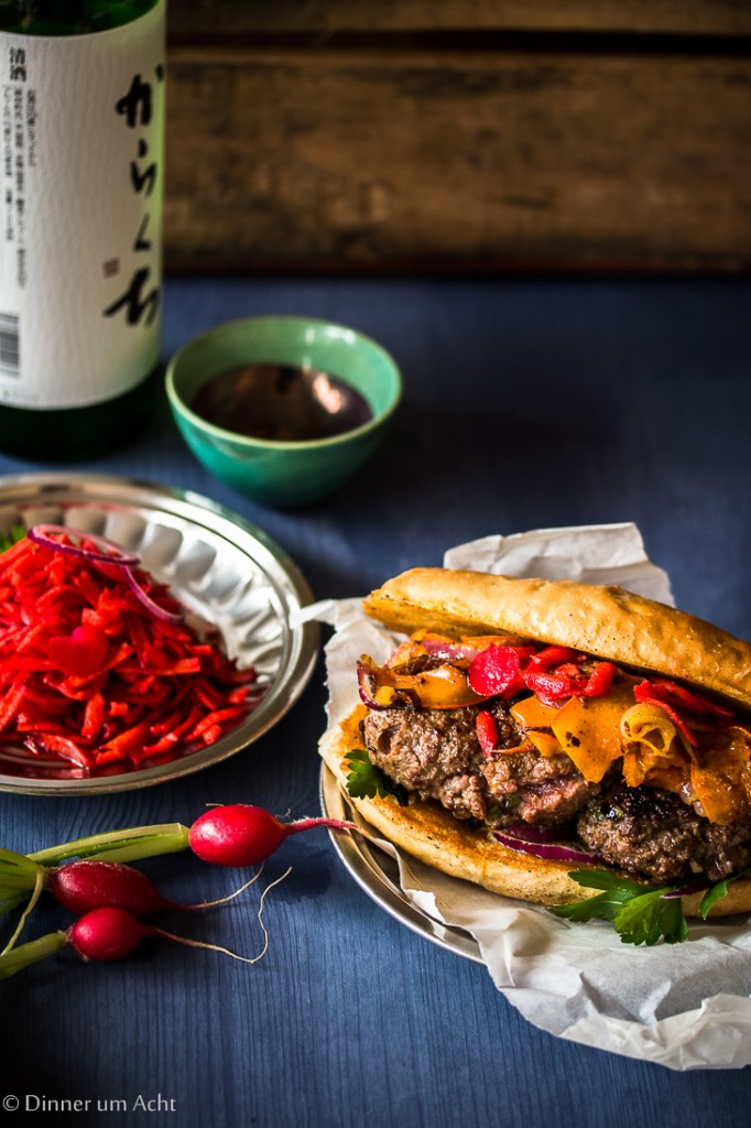 Korean Burger with Carrot Pickle-1-2