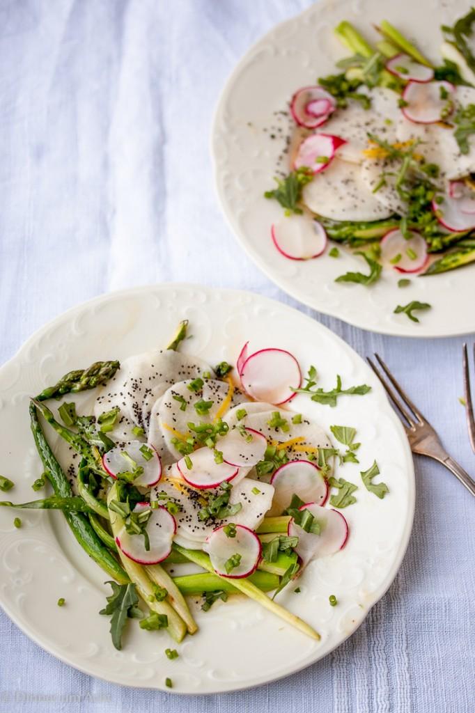 Radish-Asparagus Salad-1-5