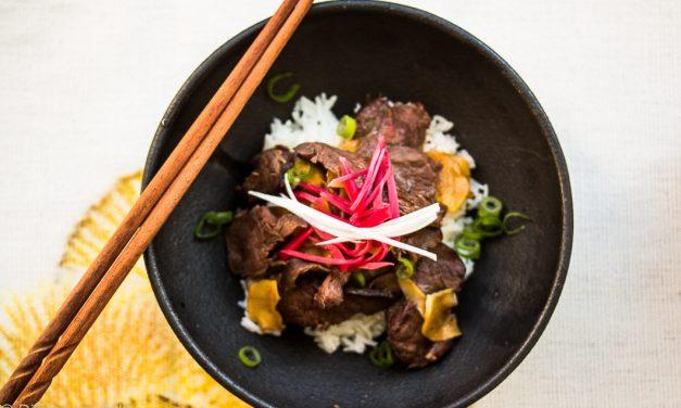 """Gut bei Japan-Sehnsucht – japanisches """"Ginger Beef"""" mit zweierlei Ingwer"""