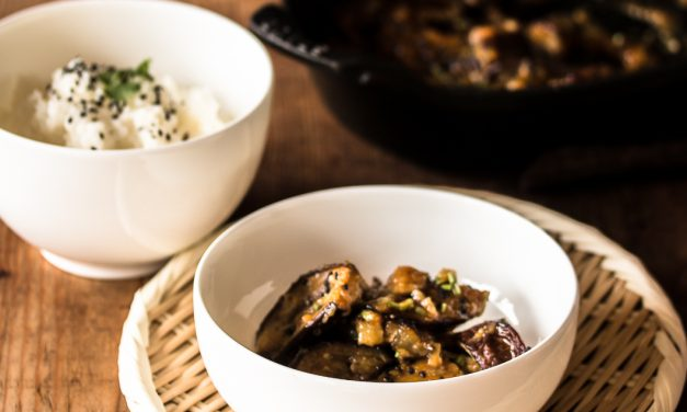 Nasu Dengaku – Miso-Sesam geröstete Auberginen