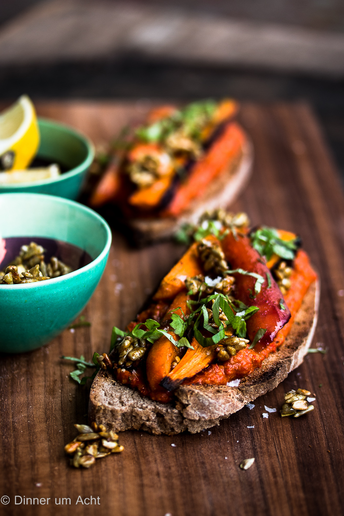 Oven roasted carrots on toast-1-2