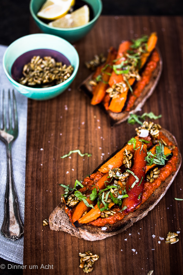 Oven roasted carrots on toast-1-5
