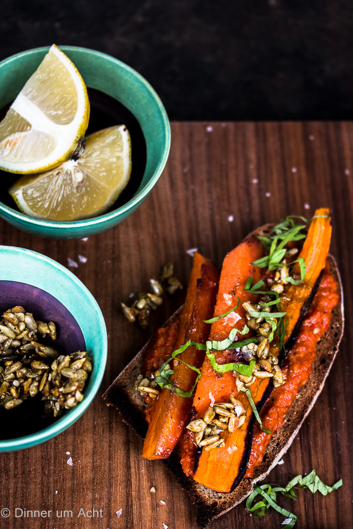 Oven roasted carrots on toast-1-6