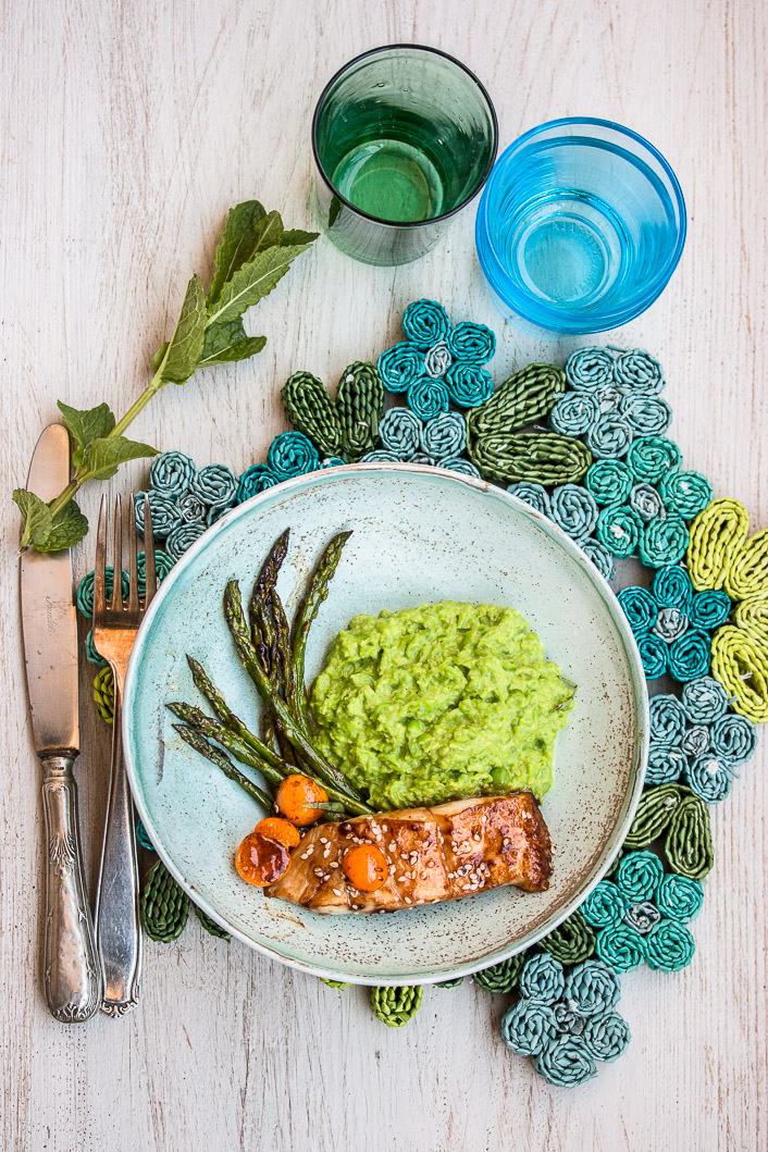 pea puree with asparagus-4