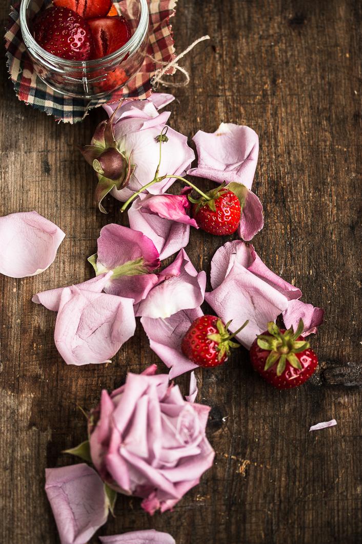 roasted strawberries on rose ricotta-9