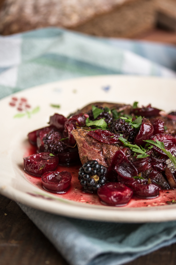 turkey liver with cherries and boysenberries-5
