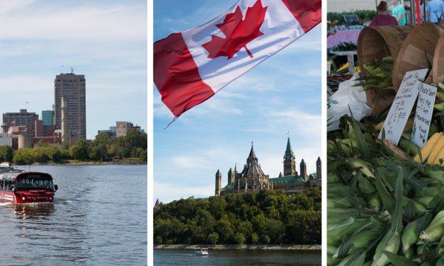 [Ontario im Spätsommer #1 ] – Hallo Ottawa! Erste Eindrücke, ein Bauernmarkt und ein Sommertag auf dem Wasser