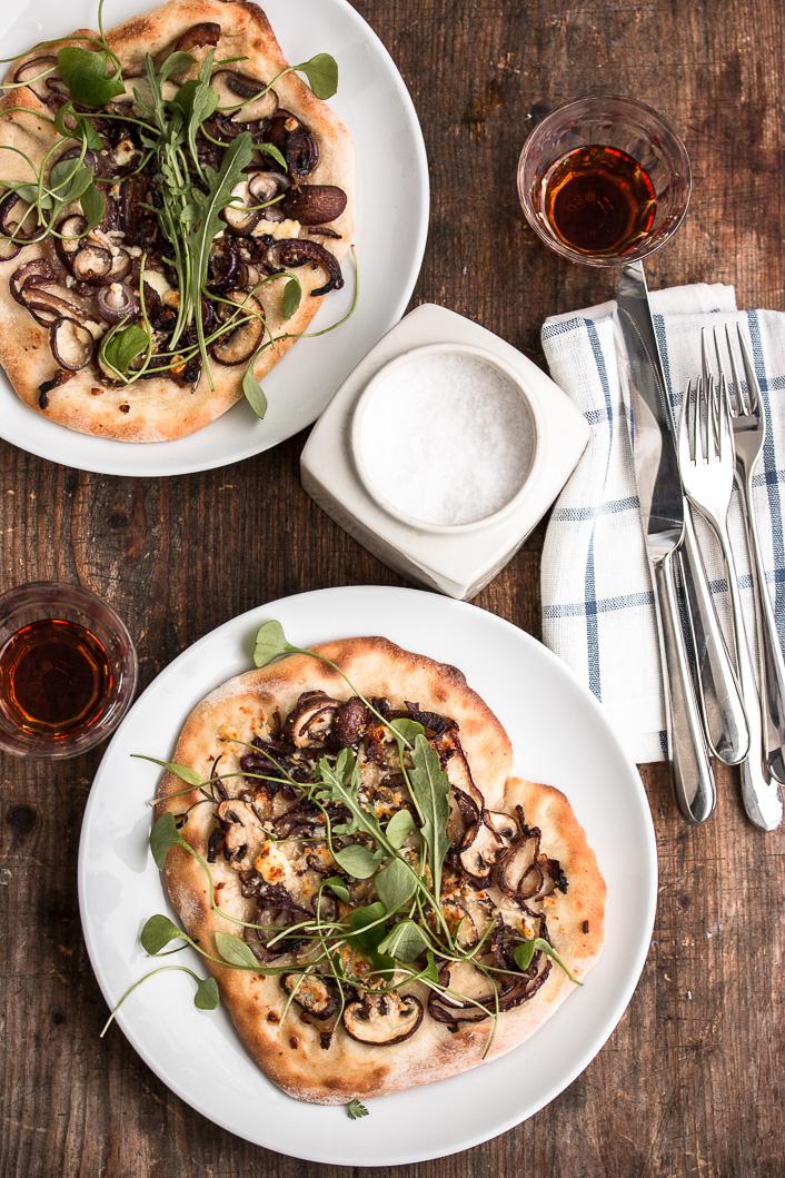 Pizza bianco mit Miso und Pilzen-1-2