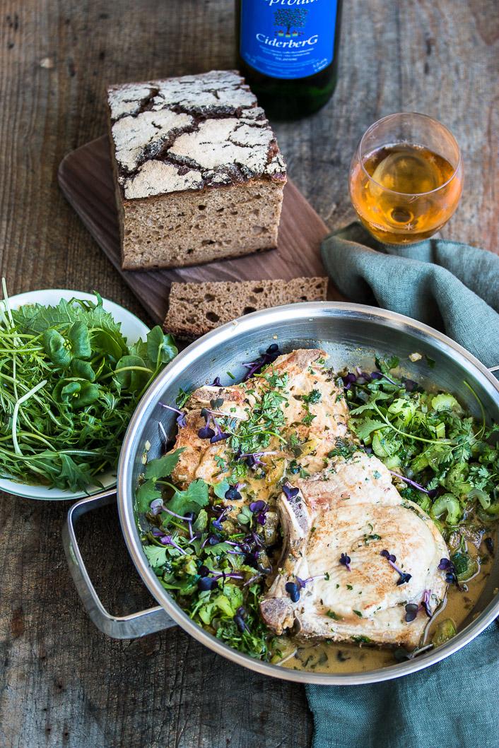 Ciderberg Pork Cutlet with Spring greens-4