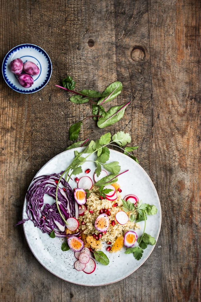 Easter Blugur Salad with marbled Eggs-6