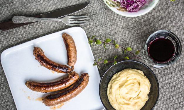 Aligot – das sündigste aller Pürees mit Miso-Rotweinwurst