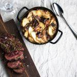 Luxuriös Wintergrillen – Rinderfilet mit Kartoffel-Steinpilzgratin