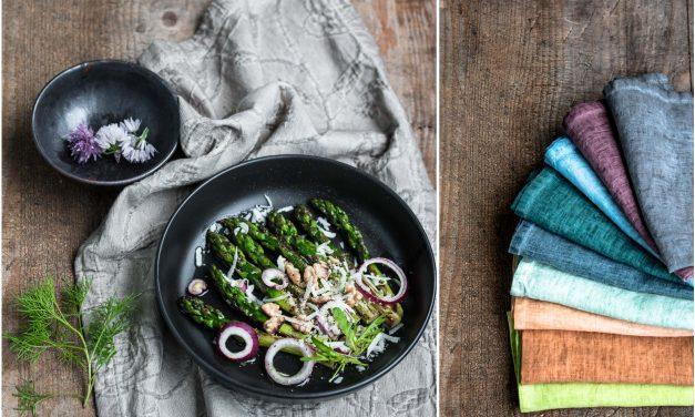 Food Fotografie – warum ich verrückt nach schöner Tischwäsche bin und drei Variationen Spargelsalat [Werbung*]