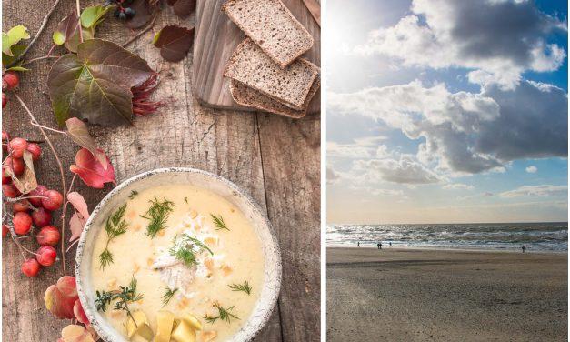 Nordische Fish Chowder mit Mais und geräuchertem Aal und eine Fischauktion in Hvide Sande