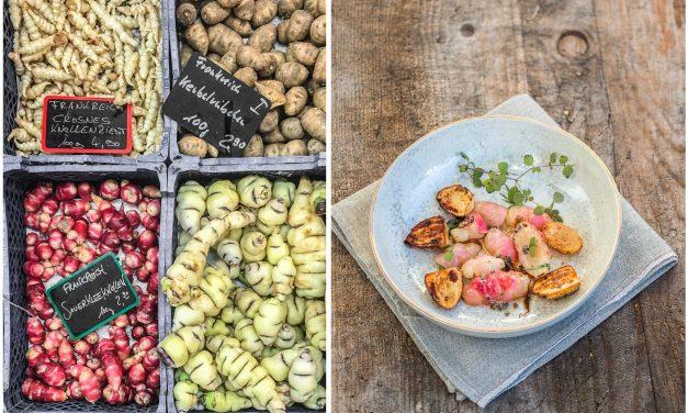 Seltsame Rüben und wo sie zu finden sind – Kerbelrübchen und Sauerkleeknollen mit Gerstenmalzbutter