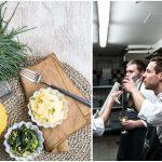 Näher dran sein – warum ich Küchenparties mag und ein grandioses Zitronen-Kartoffelpüree mit Mönchsbart und Pinienkernbutter