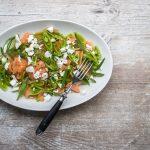 Sugar Snaps-Cantaloupe Salat mit Feta und Estragon