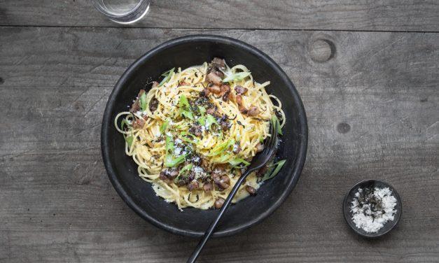 Spaghetti Carbonara auf Japanisch
