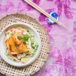 Teriyaki Saibling mit Sushireis Salat
