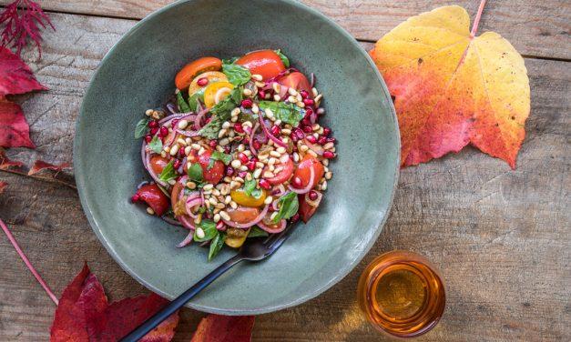 Tomaten-Granatapfelsalat