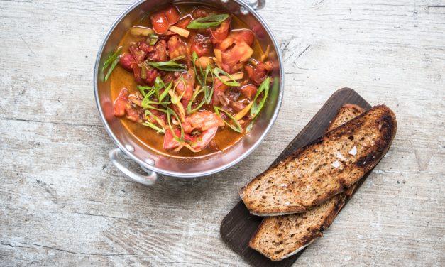 Tomaten in Ingwerbutter