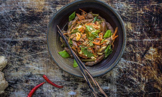 Rehschnitzel Sichuan Style