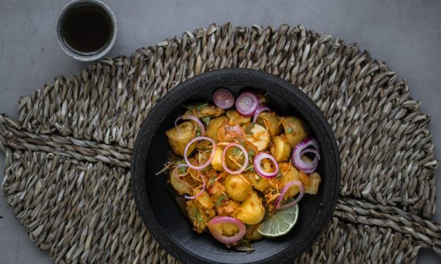 Kartoffelsalat mit Kimchi